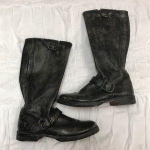 Frye Veronica Slouch Boot in Stonewash Black